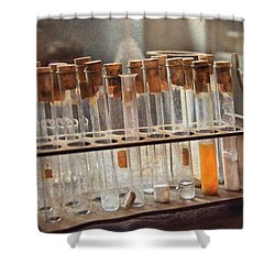 Chemist - Specimen Shower Curtain by Mike Savad
