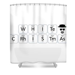 Chemistry - White Christmas Shower Curtain
