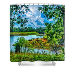 Cherokee Lake Tennessee  Shower Curtain by Bob and Nadine Johnston