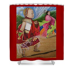 Cherokee Ribbon Dancers Shower Curtain