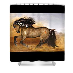 Shower Curtain featuring the painting Cherokee by Valerie Anne Kelly