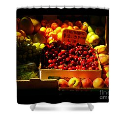 Shower Curtain featuring the photograph Cherries 299 A Pound by Miriam Danar