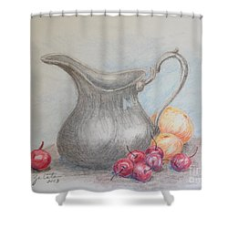 Cherries Still Life Shower Curtain
