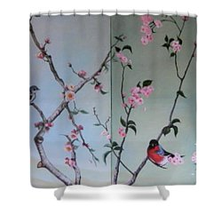 Cherry At The Foot Of Mount Fuji Shower Curtain