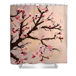 Cherry Blossoms 2 Shower Curtain by Barbara Griffin