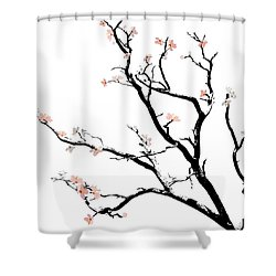 Cherry Blossoms Tree Shower Curtain