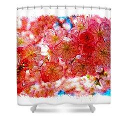 Cherry Blossums Shower Curtain