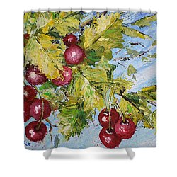 Shower Curtain featuring the painting Cherry Breeze by Kathleen Pio