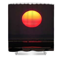 Shower Curtain featuring the photograph Cherry Drop Sunrise by Dianne Cowen