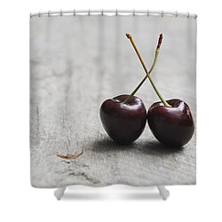 Cherry Duo Shower Curtain