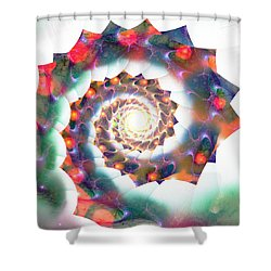 Cherry Swirl Shower Curtain by Anastasiya Malakhova
