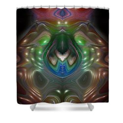 Shower Curtain featuring the digital art Cherub 5 by Otto Rapp