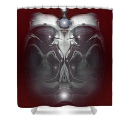 Shower Curtain featuring the digital art Cherub 7 by Otto Rapp