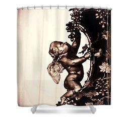 Cherub In Sepia Shower Curtain by Carol Groenen