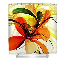 Chervona Ruta Shower Curtain by Anastasiya Malakhova