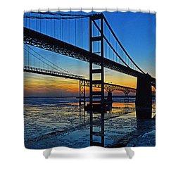Chesapeake Bay Bridge Reflections Shower Curtain