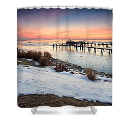 Chesapeake Bay Freeze Shower Curtain