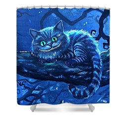 Cheshire Cat Shower Curtain by Tom Carlton