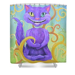 Cheshire Grin Shower Curtain