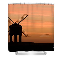 Chesterton Sunset Shower Curtain by Anne Gilbert