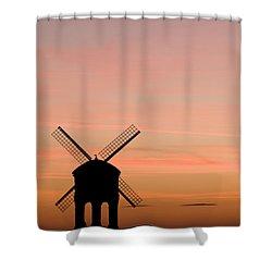 Chesterton Windmill Shower Curtain by Anne Gilbert