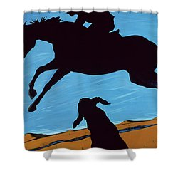 Chestertown Trials, 1999 Shower Curtain by Marjorie Weiss