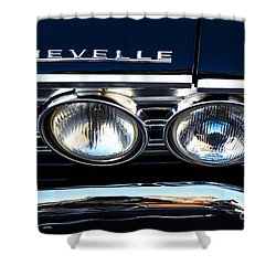 Chevelle Headlight Shower Curtain by Jerry Fornarotto