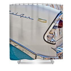 Chevrolet Bel-air Taillight Shower Curtain by Jill Reger