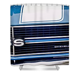 Chevrolet Chevelle Ss Grille Emblem 2 Shower Curtain by Jill Reger
