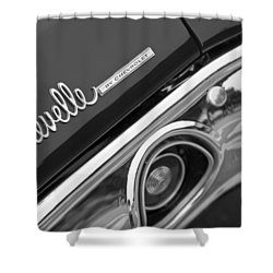 Chevrolet Chevelle Ss Taillight Emblem Shower Curtain by Jill Reger