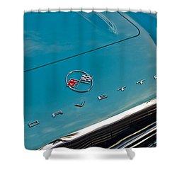 Chevrolet Corvette Hood Emblem 2 Shower Curtain by Jill Reger