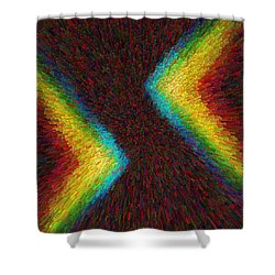 Chevron Double Rainbow C2014 Shower Curtain