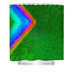 Chevron Rainbow C2014 Shower Curtain