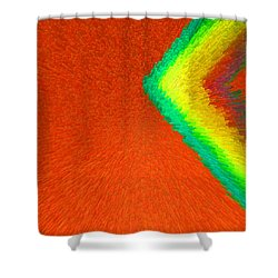 Chevron Rainbow Orange C2014 Shower Curtain