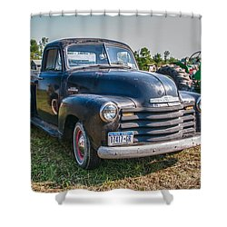 Chevy 1100 Shower Curtain by Guy Whiteley