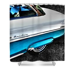 Chevy Bel Air Art 2 Tone Side View Art 1 Shower Curtain by Lesa Fine