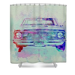 Chevy Camaro Watercolor 2 Shower Curtain by Naxart Studio