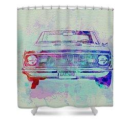 Chevy Camaro Watercolor 2 Shower Curtain by Naxart Studio