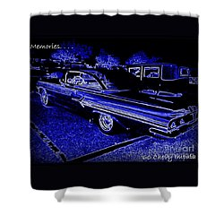 Shower Curtain featuring the photograph Chevy Memories by Bobbee Rickard