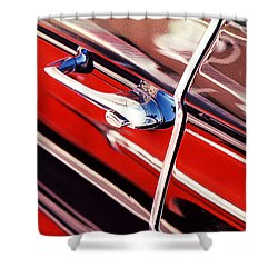 Shower Curtain featuring the photograph Chevy Or Caddie? by Ira Shander