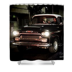 Chevy Pickup Truck Shower Curtain by Nina Prommer