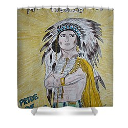 Chew Mail Pouch Shower Curtain by Kathy Marrs Chandler