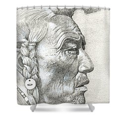 Cheyenne Medicine Man Shower Curtain