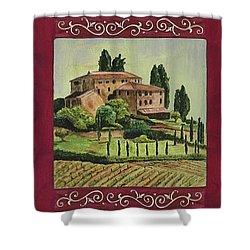 Chianti And Friends Collage 1 Shower Curtain by Debbie DeWitt