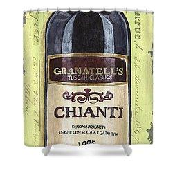 Chianti And Friends Panel 1 Shower Curtain by Debbie DeWitt