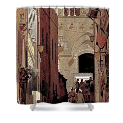 Chiaroscuro Siena  Shower Curtain by Ira Shander