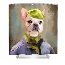 Chic French Bulldog Shower Curtain
