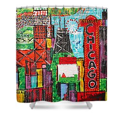 Chicago - City Of Fun - Sold Shower Curtain by George Riney