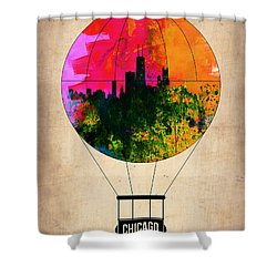 Chicago Air Balloon Shower Curtain by Naxart Studio
