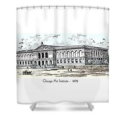 Chicago Art Institute -  1879 Shower Curtain